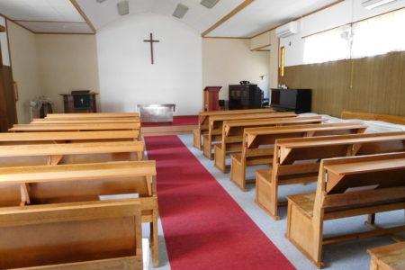 今日の教会の様子