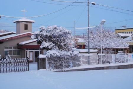 原町雪景色