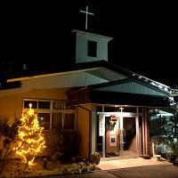 12月14日夜の教会